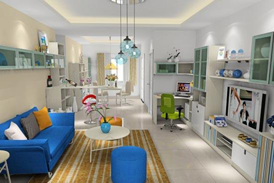 单人扶手沙发,长方形客厅最佳选择,因为这是一种适合长形客厅的摆放