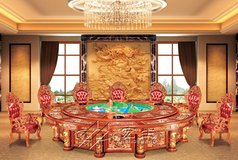 【豪华酒店餐桌】龙霸天下