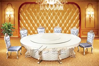 【豪华电动餐桌】宴动八方经典B版(香槟色)