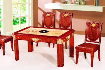 【玉石餐桌】XS-65-1T(六拼玉石 红珍珠边)