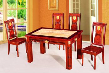 【玉石餐桌】XS-60(六拼玉石 红珍珠边)