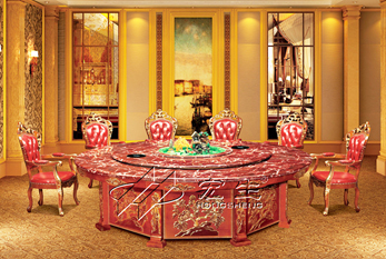 【豪华酒店餐桌】富贵玉石B版(紫罗兰)