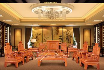 【酒店沙发】四水归堂(红木款)