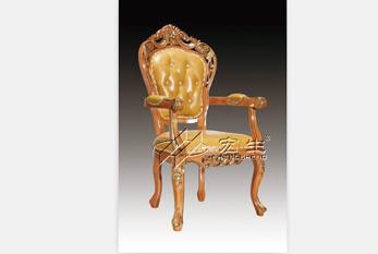 【酒店餐椅】豪华欧式椅(沙比利)